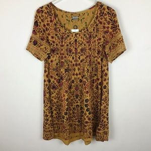 NWT Urban Outfitters Ecote Pintucked Frock dress S